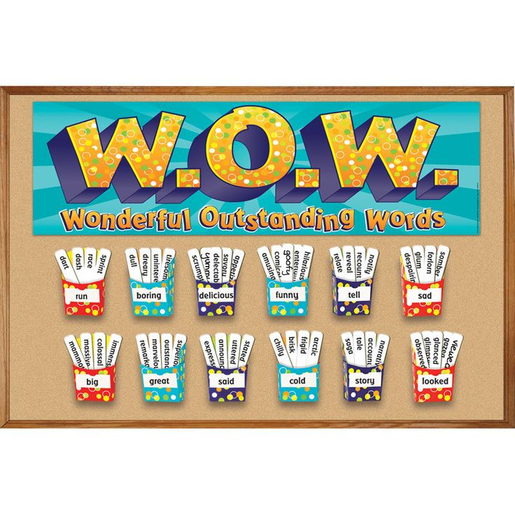 W o w interactive bulletin board set words bulletin for Decoration word
