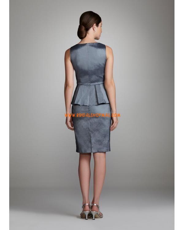 Short Sleeve V Neck Stretch Taffeta Dress