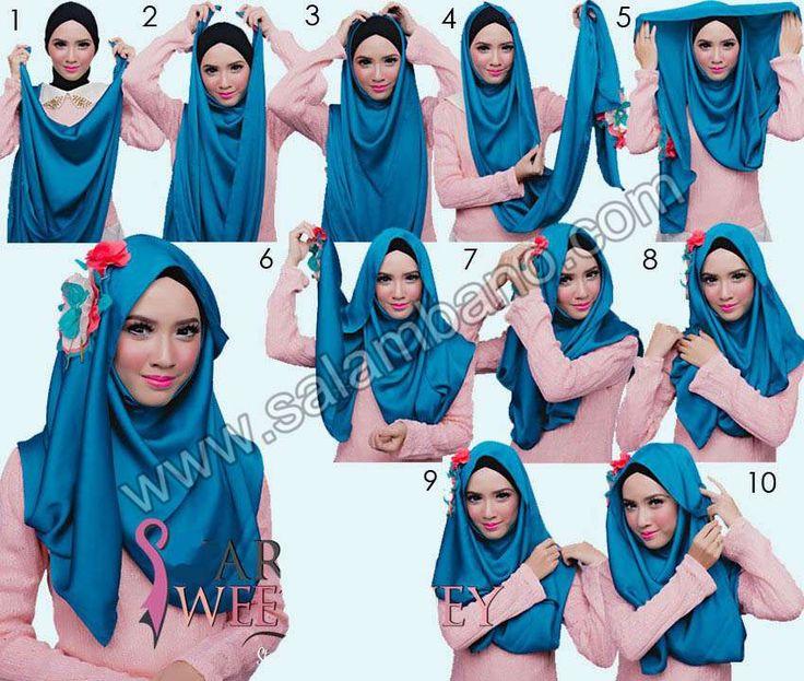 آموزش تصویری مدل شال #شال #پوشش #حجاب