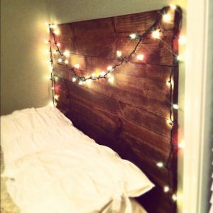 #Multicoloured #fairylight headboard