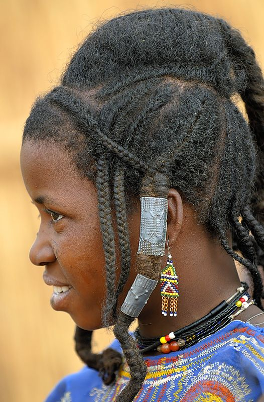 Africa Portrait Of A Fulani Peul Woman Burkina Faso