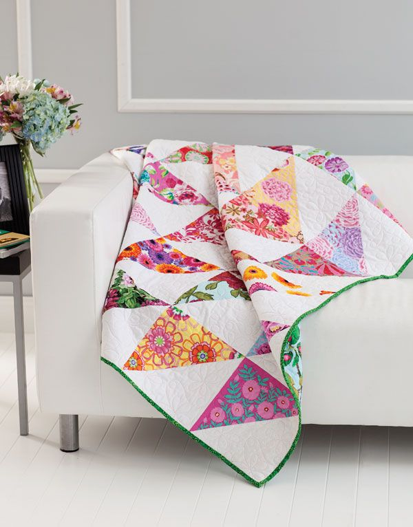 Easiest Quilts Ever - Beacon of Hope. Also a really sweet modern Rail Fence baby quilt included in this free booklet!