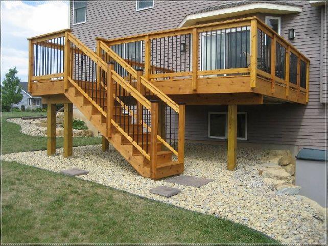 Backyard Deck Designs the sunny corner deck design ideas How To Frame An Elevated Deck Google Search Small Deck Designsbackyard
