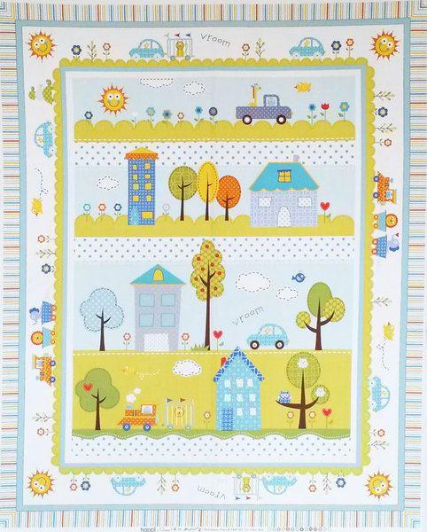 HAPPI - Quilt Panel,  zwei verschiedene Farben von StoffQuartier auf DaWanda.com