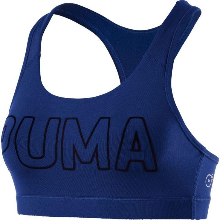 Puma Women's Kylie Jenner Powershape Forever Logo Sports Bra, Size: Medium, Blue