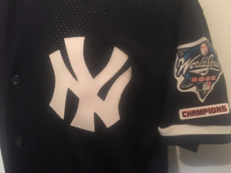 New York Yankees 2000 World Series Champions Majestic Jersey Mens XL Authentic #Majestic #NewYorkYankees