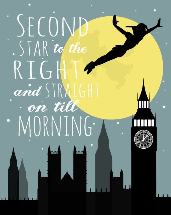 Peter Pan Second Star to the Right Printable by OliveandBirch