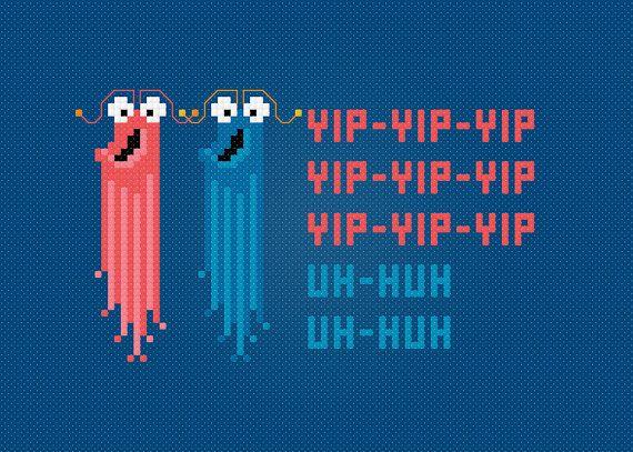 Funny Cross Stitch Pattern The Yip-Yips by AmazingCrossStitch