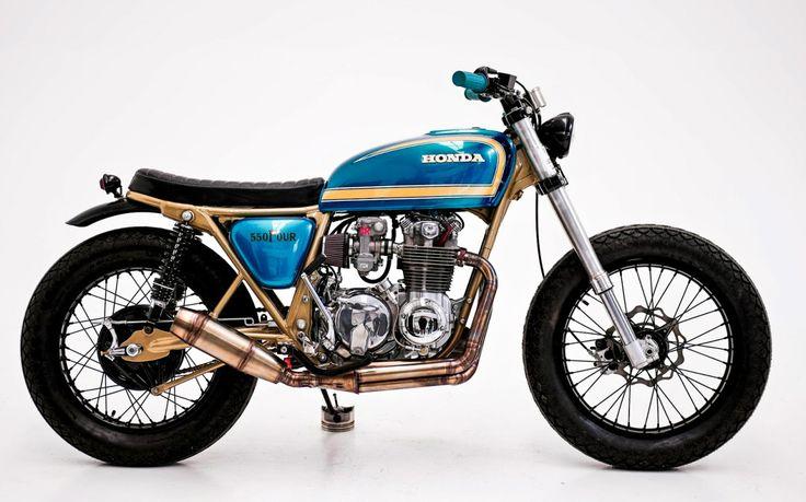 Cafe Racer Pasión — Honda CB550 Four Brat Style #26 by Herencia Custom...
