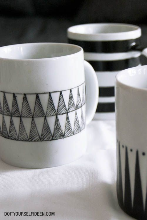 painted mugs geschenkideen pinterest becher. Black Bedroom Furniture Sets. Home Design Ideas