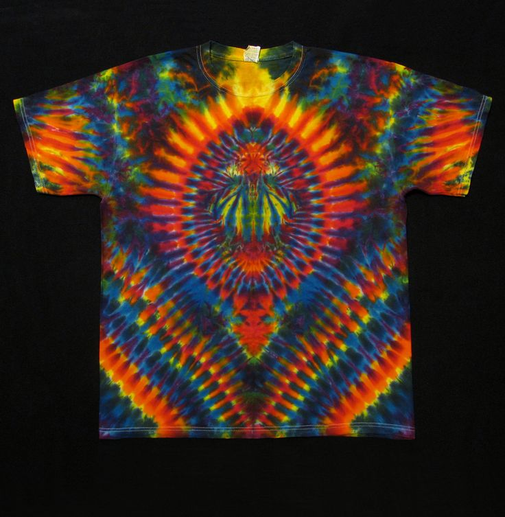 tie dye t shirt sleeved psychedelic scarab hippie