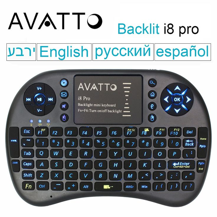 [AVATTO] i8 Pro Backlit 2.4G Wireless Gaming Keyboard TouchPad Backlight Fly Air Mouse for Smart TV/Android Box/Laptop/Mini PC