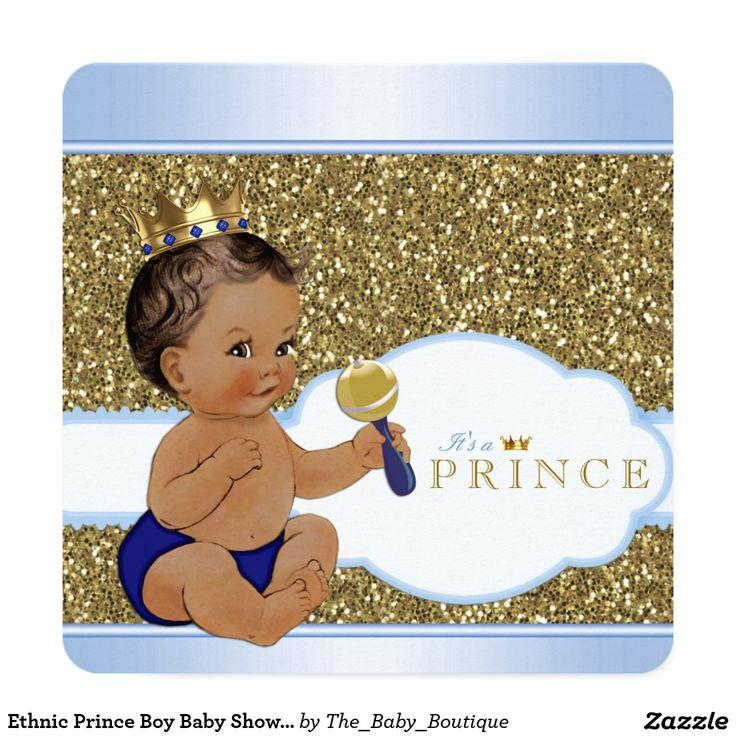 Ethnic Prince Boy Baby Shower Invitation
