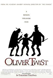 Oliver Twist is a 2005 British drama film directed by Roman Polanski. The screenplay by Ronald Harwood is based on the 1838 novel of the same title by Charles Dickens. The film was preceded by numerous adaptations of the Dickens book, including several feature films, three television movies, two miniseries, and a stage musical that became an Academy Award-winning movie.