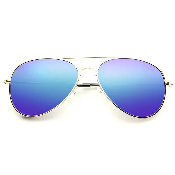 Cheap Aviator Sunglasses   Classic 58mm Color Mirror Polarized Aviator Sunglasses   BleuDame.com