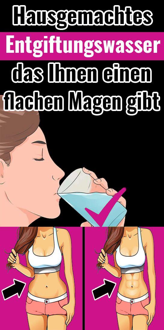 Hausgemachtes Entgiftungswasser, das Ihnen einen flachen Magen gibt Silvia Sieben