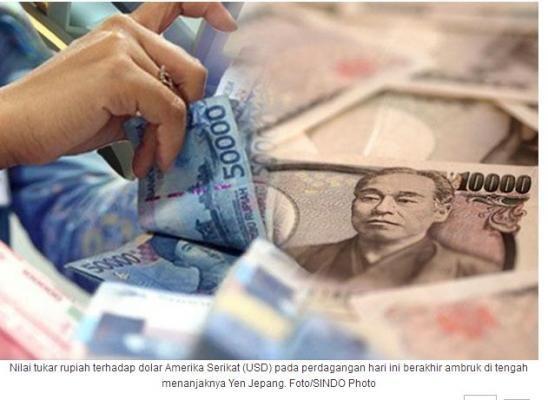 Rupiah pun Ambruk Mengiringi Penguatan Yen