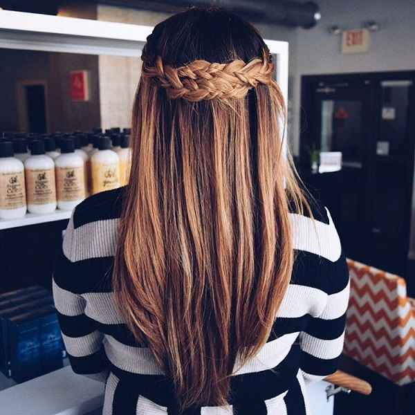 Whether straight hair or curled or colored or natural, simple half braided updos would still make you look much different than with your hair falling down or with a messy bun. This hairstyle instantly transforms you into a lady.