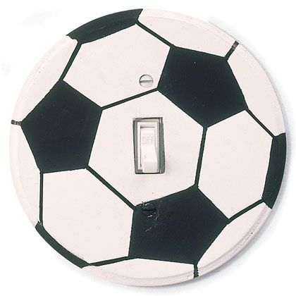 DIY Soccer Ball Switch Plate   Perfect For The Soccer Fan In Your Home! Soccer  Room DecorBoys ...