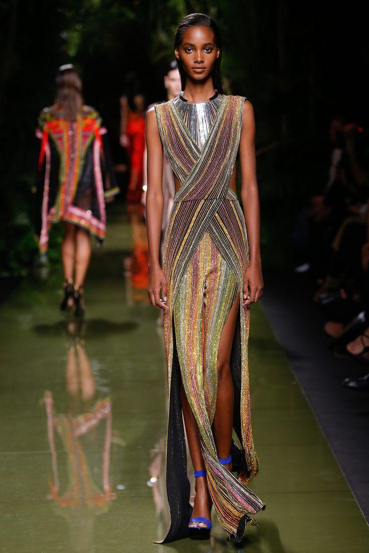 Balmain Spring 2017 Ready-to-Wear Fashion Show - Tami Williams (Elite)