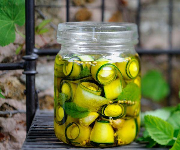 #Courgettes marinées, une recette de Cyril Lignac