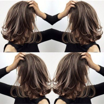 super hair layered short highlights