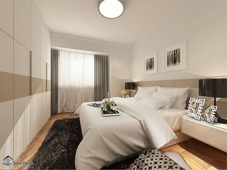 dc vision contemporary all white master bedroom