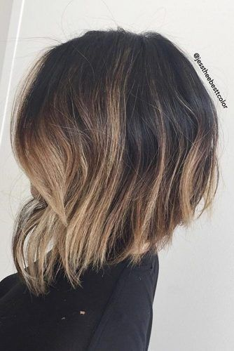 This hairstyle is perfect for women who have thick hair. Firstly, it saves volume in the back and crown of the hair and, secondly, it does not look heavy in the front.  Did you try this Stacked Highlighted Bob Hairstyle?