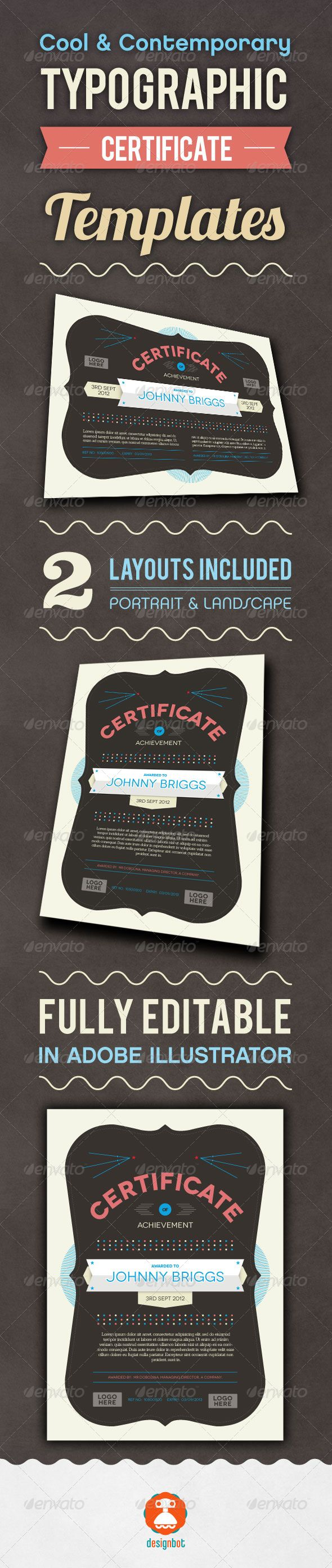 Typographic Certificate  #typography • Available here → http://graphicriver.net/item/typographic-certificate/2917624?s_rank=68&ref=pxcr