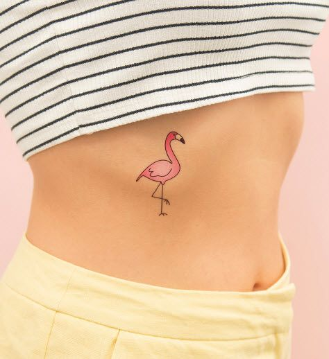 Club Flamingo, a pink flamingo by Tattoonie Premium Temporary Tattoos. #t4aw #tattooforaweek #temporarytattoo #flamingo #pink #tattoonie