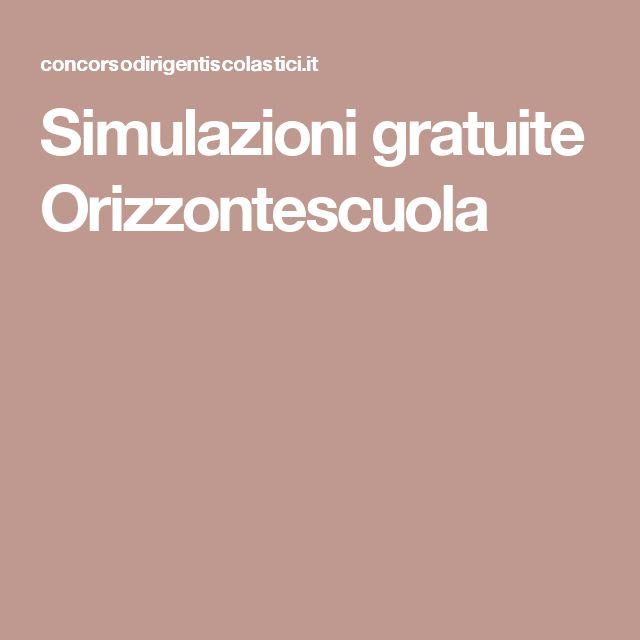 Simulazioni gratuite Orizzontescuola