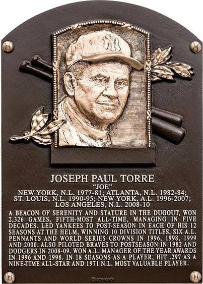 Class of 2014 - Joe Torre // next stop, number retirement ceremony!! :) <3 YOU GO, JOE!