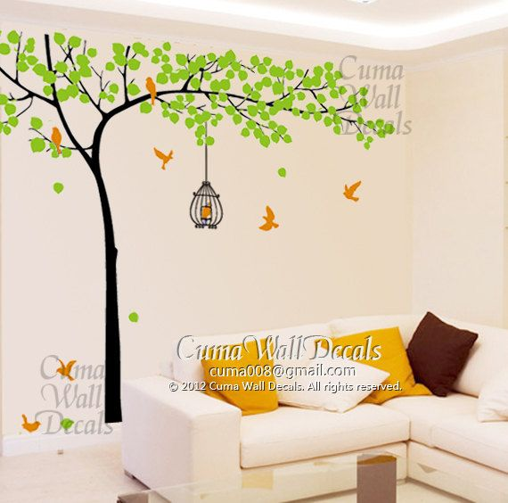 Best Wall Decal Images On Pinterest Tree Wall Decals Vinyl - Yellow bird wall decals