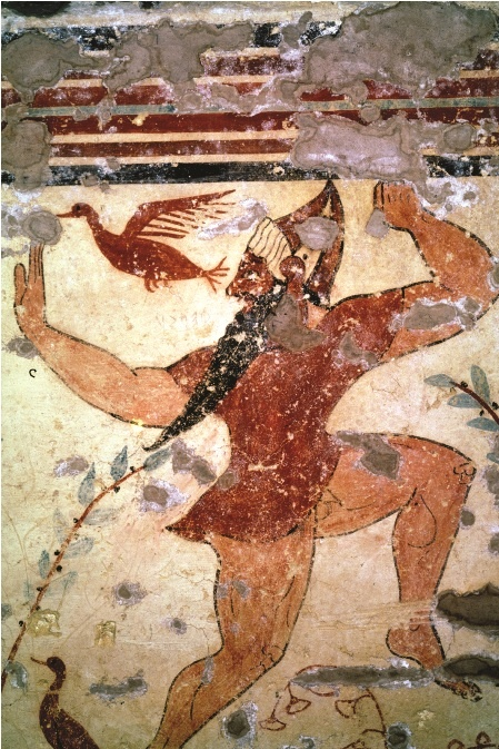 Tarquinia  - Etruscan frescoes.The Etruscan played a primary role not only in the history of ancient Italy, but also in the entire pre-Roman Mediterranean.