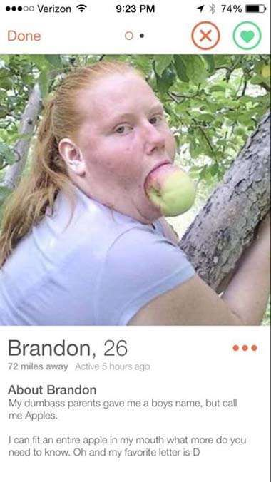 16 People With Tinder Profiles So Weird It Just Might Work.. Funny Tinder Profiles Pictures... Lol!  (16 pics)   (check out all photos)