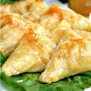 Copycat Dijon Chicken Hot Pockets with Creamy Honey Mustard Dip | AllFreeCopycatRecipes.com