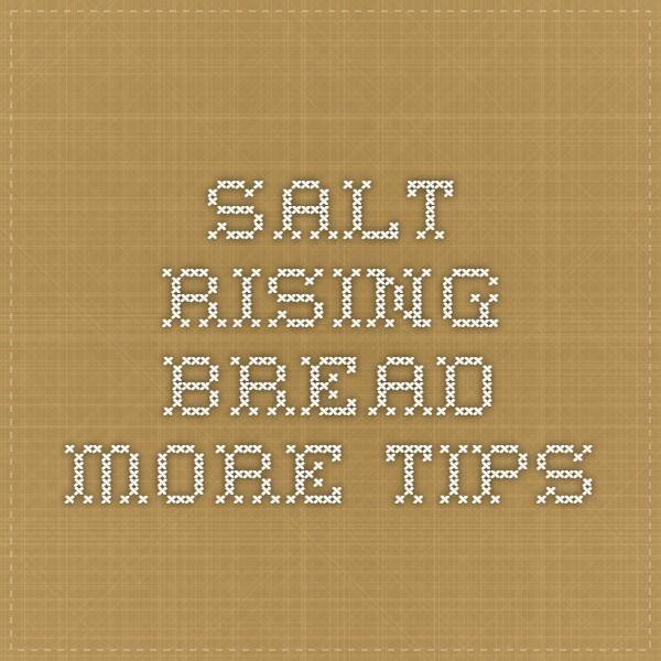 salt rising bread machine