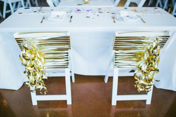 Love this easy chair decorations! Texas Gemstone Wedding