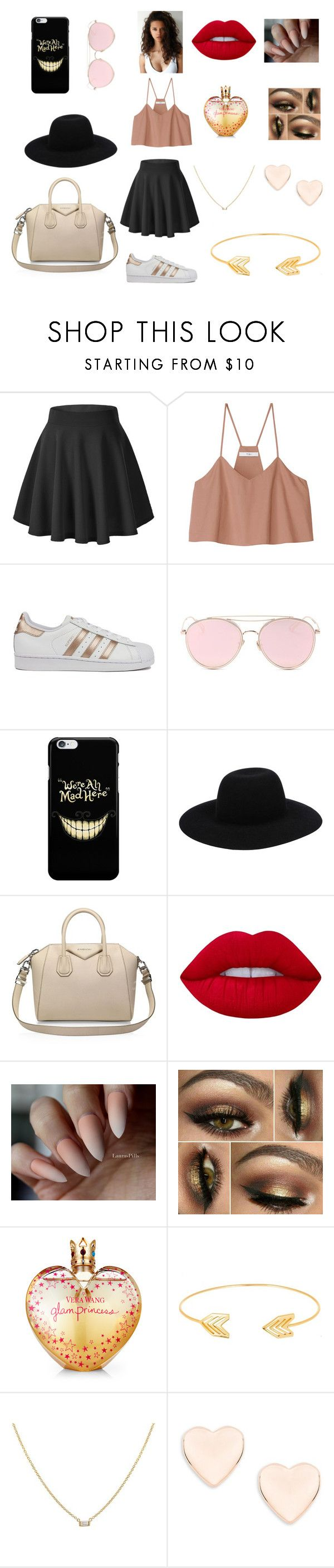 """""""tenue de sortie n°2"""" by flofloines on Polyvore featuring TIBI, adidas, LMNT, Off-White, Givenchy, Lime Crime, Vera Wang, Lord & Taylor et Ted Baker"""