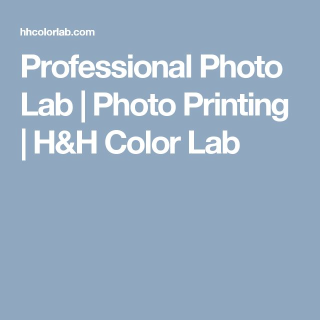 Professional Photo Lab | Photo Printing | H&H Color Lab