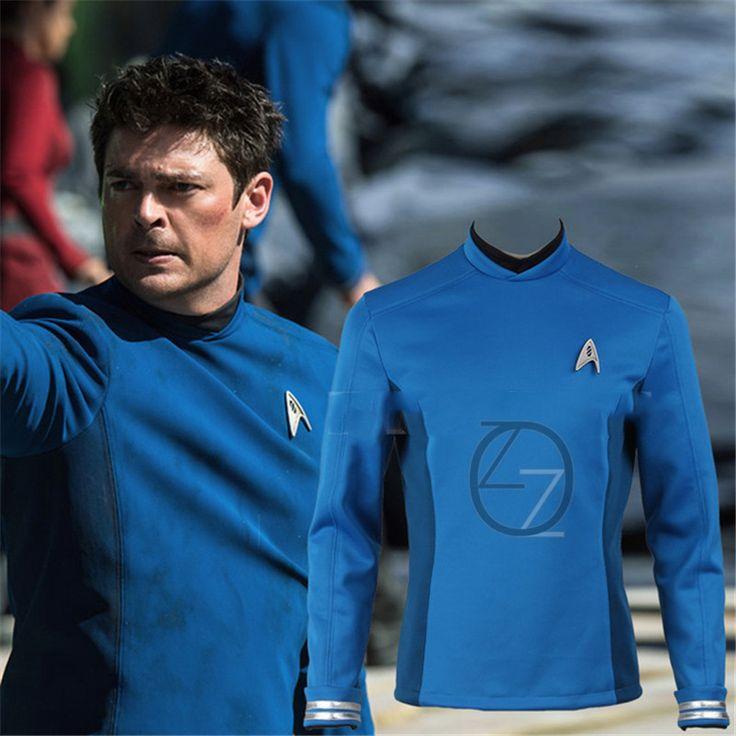 Star Trek Cosplay Star Trek Beyond Spock Science Officer Uniform Blue Top Shirt Halloween Carnival Costume Cosplay #Affiliate