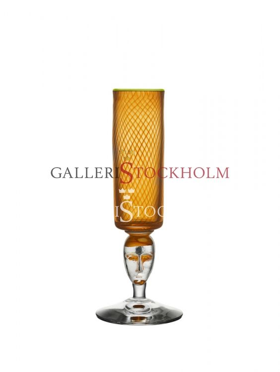 Bertil Vallien - Glaskonst - Red Rim Orange pokal Beställ här! Klicka på bilden.