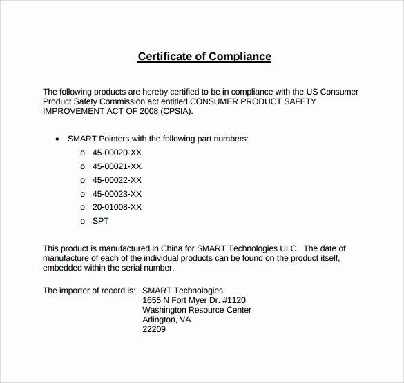 Certificate Of Conformance Template Word Inspirational Sample Certificate Of Pliance Template 15 Free Word Template Templates Microsoft Word Templates