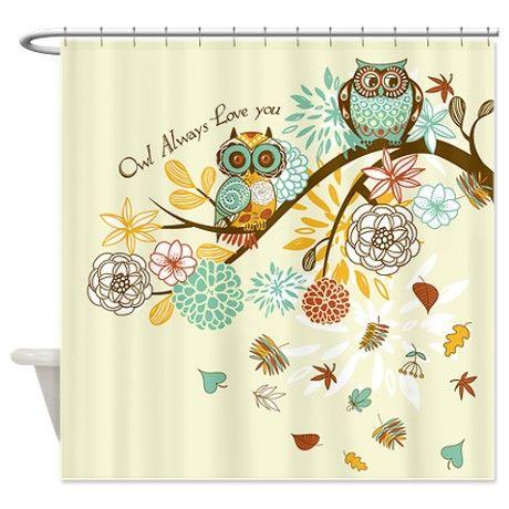 owl+shower+curtain | Autumn Gifts > Autumn Bathroom Décor > Autumn Owl Shower Curtain