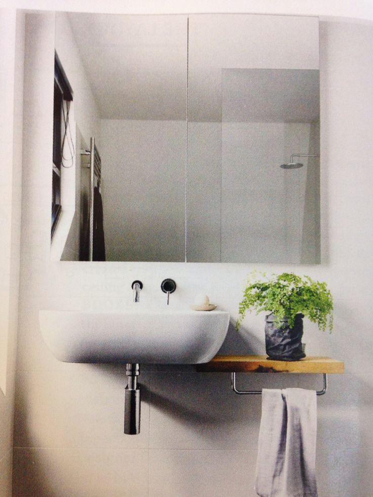 Wall hung basin and shelf