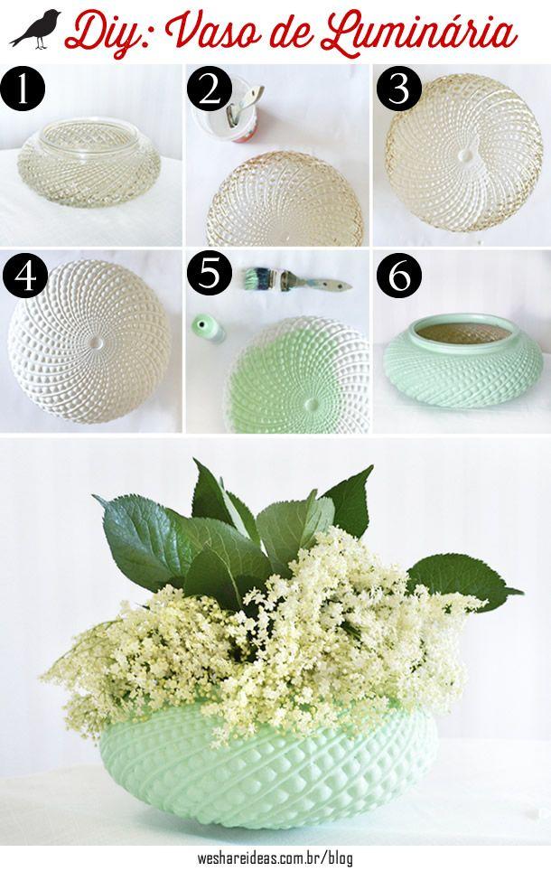 vaso de luminarias antigas, decoração criativa, diy, light vase, decor, flowers
