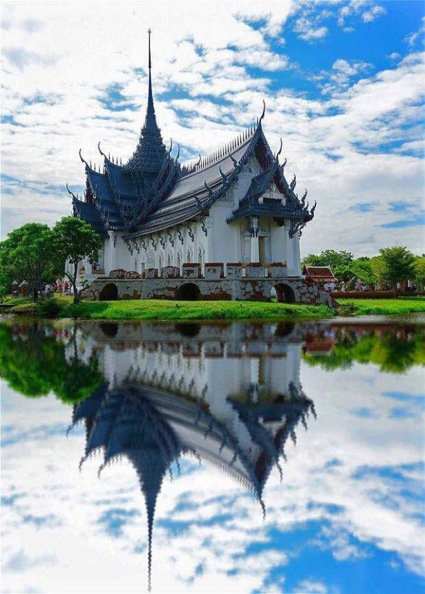 Sanphet Prasat Palace at Ancient Museum in Samutprakran Thailand