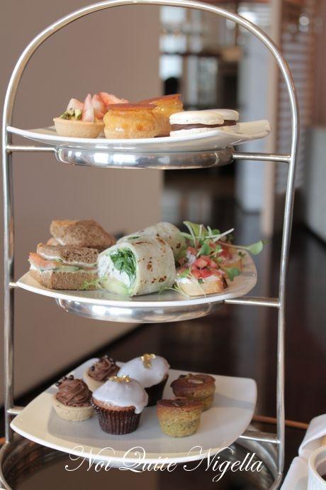 Foods for High Tea - little wraps, tea sandwiches perhaps little quiche and brusceta?