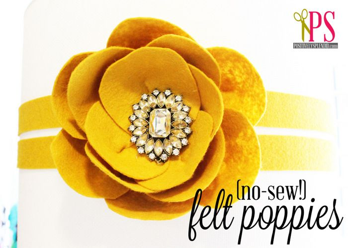 Positively Splendid {Crafts, Sewing, Recipes and Home Decor}: Felt Poppy Tutorial (Easy Felt Flowers)