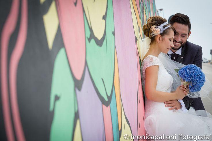 #bouquet #fiori #blue #love #amore #sposi #attimi #moments #porto #italy #civitanova #murales #momenti #felicità #fun #happy #sorrisi #divertimento #photo #foto #monicapallonifotografa